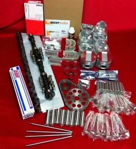 Cadillac 390 Deluxe Engine Kit Pistons Moly Rings Cam Push Rods Bearings 1959 62