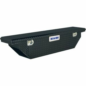 Better Built 61 5 Crown Series Aluminum Black Wedge Style Truck Tool Box Locking