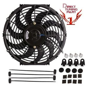 Universal Fit 16 Inch 12v Slim Fan Push Pull Electric Radiator Cooling Fan