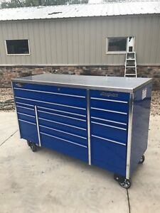Snap On 72 Krl1163 Triple Bay Royal Tool Box W Stainless Steel Top And Cover
