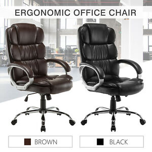 High Back Pu Leather Executive Office Desk Task Computer Luxury Chair