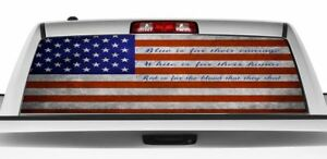 Patriotic Red Is For The Blood That They Shed Rear Window Graphics Decal Sticker