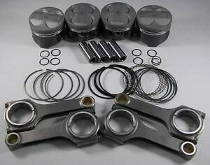 Nippon Racing Honda P30 Pistons Scat Connecting Rods B18b1 B18a1 Ls Vtec 81mm