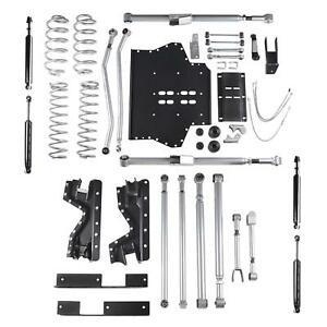 4 5 Inch Jeep Tj Lift Kit Extreme Duty Long Arm System W Twin Tube Shocks 97 02