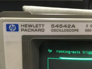 Hp 54542a 500 Mhz 2gsa s On All 4 Channels Real time Digital Oscilloscope Dso