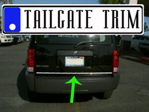 Dodge Nitro 2007 2008 2009 2010 2011 Chrome Tailgate Trunk Trim Molding