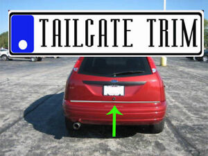 Ford Focus Hatchback 2000 2007 2008 2011 Chrome Tailgate Trunk Trim Molding