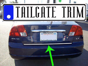 Honda Civic 2001 2002 2003 2004 2005 Chrome Tailgate Trunk Trim Molding