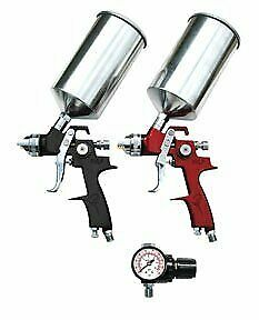 Atd 6 Piece Hvlp 1 8 1 3 Mm Spray Gun Set With Air Regulator Cups 6904
