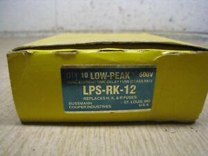 Box Of 10 New Cooper Bussmann Low peak Lps rk 12 Lps rk 12 Free Shipping