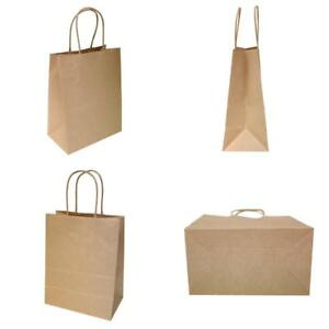 Tempo Small Retail Shopping Bag Kraft Paper 4 1 2 x8 x10 1 4 250 Count New