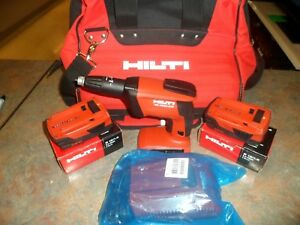 Hilti Compact Cordless Screwdriver Sd 4500 a18 W two Batteries Charger And Bag