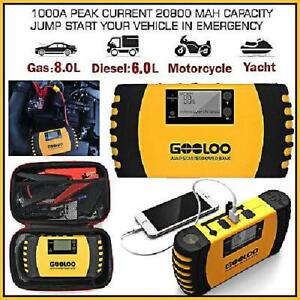 Portable Jump Starter Box Car Battery Booster Power Pack Charger 12v Auto Truck