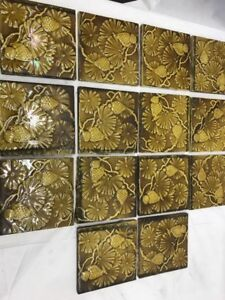 14 Antique English Mintons Aesthetic Victorian Architectural 6 Tiles