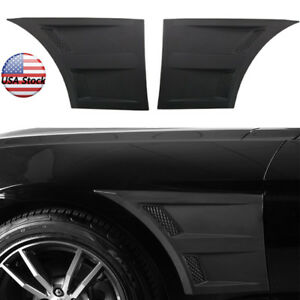 15 17 Ford Mustang Exterior 3d Style Car Front Side Fender Vent Cover Trim Abs