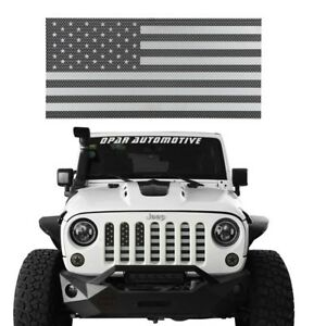 Stainless Steel American Flag Grille Insert Mesh For Jeep Wrangler 07 18 Jk