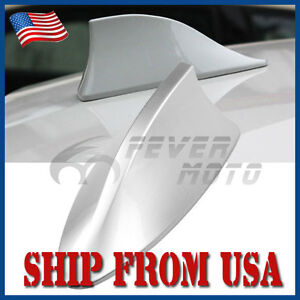 Us Car Silver Roof Top Radio Fm Am Shark Fin Antenna Aerial Signal For Toyata Fm