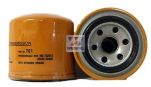 Wesfil Oil Filter For Hyundai Trajet 2000 On External Spin On To1