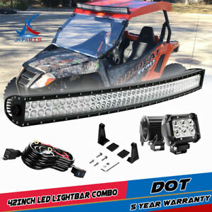 30 in Led Light Bar Yamaha Rhino 700 660 Can Am Commander Maverick Wildcat 1000