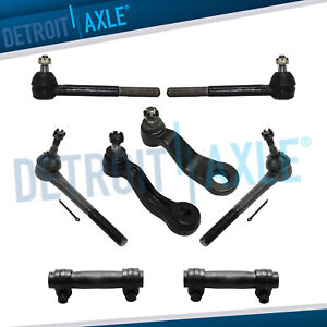 Front Inner Outer Tierod Idler Pitman Arm Kit For Chevy Gmc C1500 C2500 Tahoe