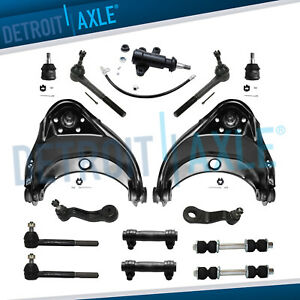 Front Upper Control Arm Idler Pitman Sway Bar Link Kit For Chevy Gmc C1500 C2500