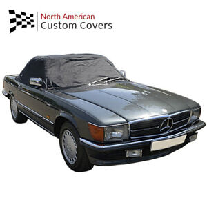 Rp133 Mercedes R107 Convertible Sl Class Soft Top Roof Half Cover 1971 1989