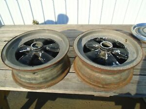 Vintage Cragar Gt 15x6 Mag Wheel Rims Set Of 2 Oem