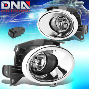 For 2013 2016 Nissan Pathfinder Bumper Fog Light Lamp Chrome Cover Switch Clear