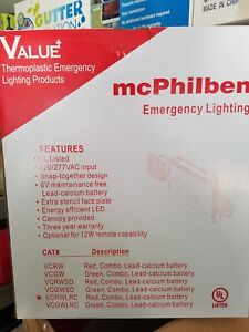 New Nib Mcphilben Emergency Lighting Led Exit Sign 120 227 Vcrwlrc