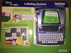 new Brother P touch Pt 1880c Labeling System Free Shipping