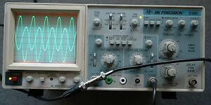 Bk Precision 2160 60mhz Two Channel Oscilloscope With 2 Probes Power Cord