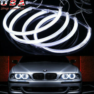 7000k White Headlight Led Angel Eyes Halo Ring For Bmw 318i 330xi 525i M3 M5 New