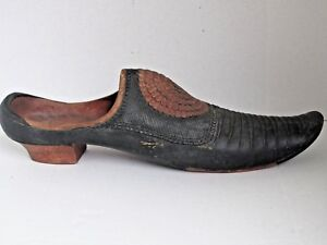 Antique Carved Wood Shoe Trade Sign 18th Century