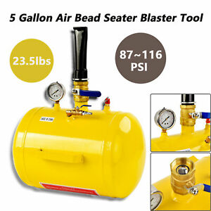 5 Gallon Inflator Blaster Tool Air Bead Seater Tire Seating Atv Tractor Black
