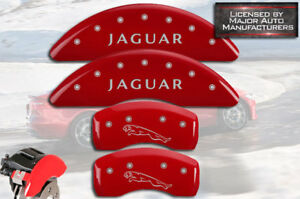 2009 jaguar Xf Supercharged Front Rear Red Mgp Brake Disc Caliper Cover Leaper