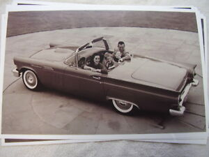 1957 Ford Thunderbird Convertible Family Of 4 11 X 17 Photo Picture
