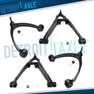 4pc Front Upper Lower Control Arm Chevy Silverado Gmc Sierra 1500 Yukon