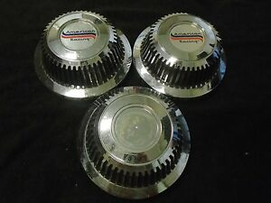 Vintage American Racing Center Cap Hubcap Set Of 3 rare
