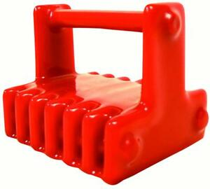 Marine Retrieval Magnet Underwater Greenfield 200 Lb Rating Pvc Coated Red New