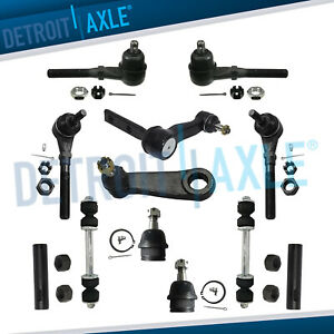 Front Inner Outer Tie Rod Idler Pitman Arm 12pc Kit For Ford F150 Expedition 4wd