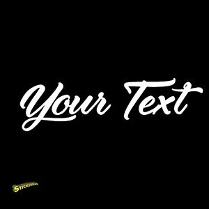 Custom Script Personalized Lettering Vinyl Decal Sticker Car Window Bumper