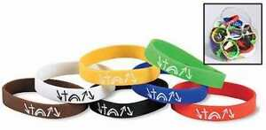 Bracelet witness silicone Bands W display 8 7 Asst pack Of 60