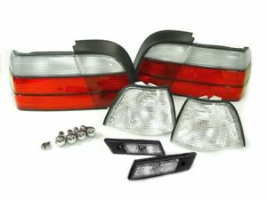 Depo 12 Piece Red clear Corner tail side Marker Light For 92 96 Bmw E36 2d Coupe