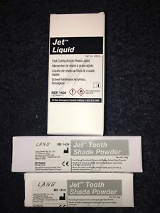 Jet Tooth Shade Kit Lang Fast Curing Crown And Bridge Temporary Acrylic Resin