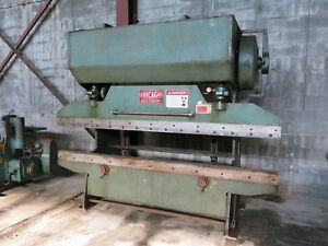 Nice Chicago 68 b Mechanical Press Brake W Front Operated Mechanical Backgauge