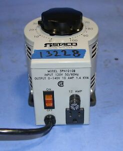 1 Used Staco 3pn1010b Variable Autotransformer