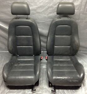 2000 2006 Audi Tt Front Seats Grey Leather Pair T1001