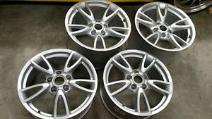 Porsche Oem Carrera Iv 18 Wheels Staggered Rims C4s Turbo S Wide Body Offsets