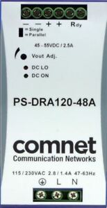 Comnet Ps dra120 48a 48vdc 120watt Din Rail Mounting Power Supply
