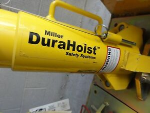 Miller Durahoist Portable Fall Arrest Post Dh ap 1 With Anchor Plate Dh ap 12